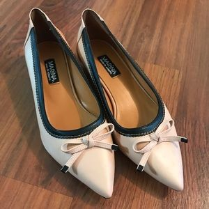 Vintage Pink Bow Flats
